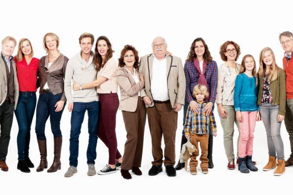 Een panorama familieportret