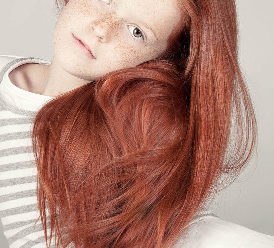 Kids Fotoshoot meisje met rood haar