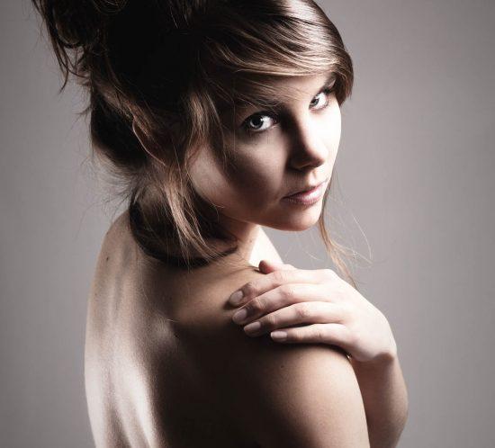 Portfolio fotoshoot van een vrouw