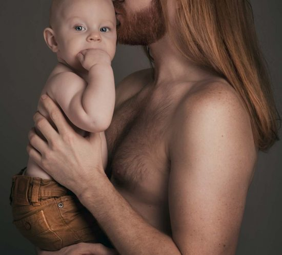 Familie fotoshoot van vader en zoon