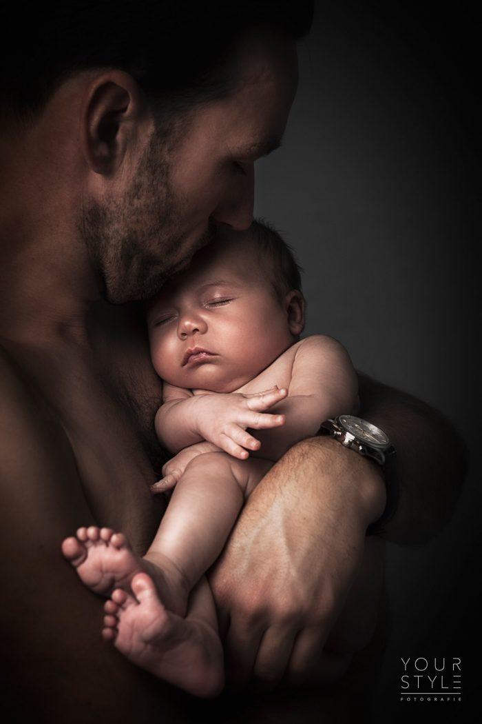 Fotografie van vader met baby