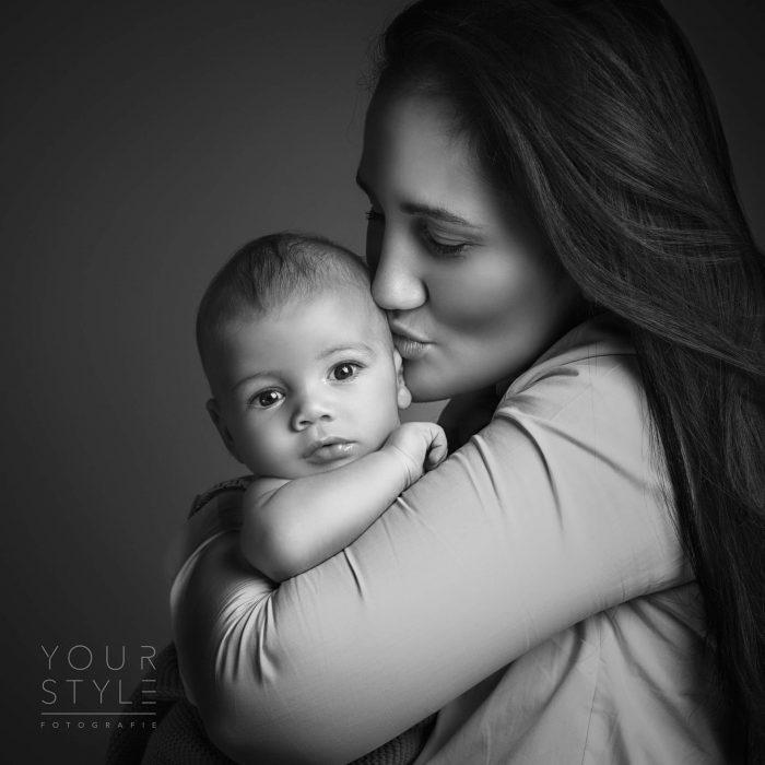 Moeder met zoon