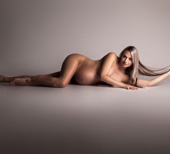 Elegante zwangerschapsfotografie