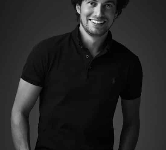 Portretfoto man zwart-wit