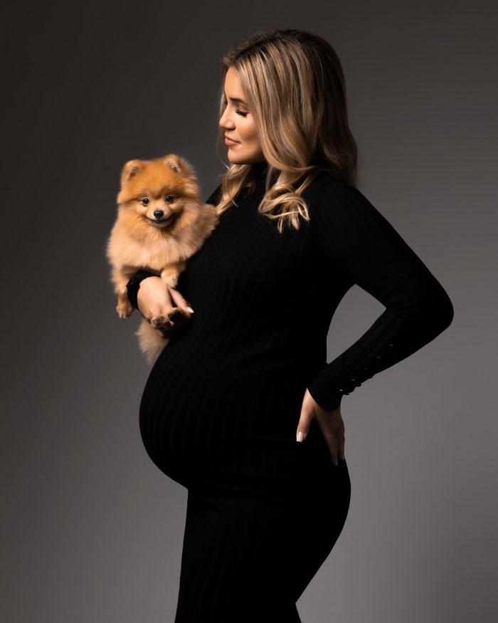 Zwangerschapsshoot met hond