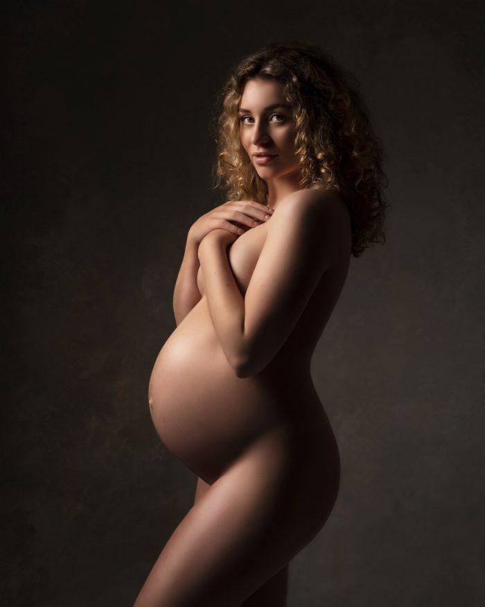 Zwangerschapsfotografie artistiek naakt