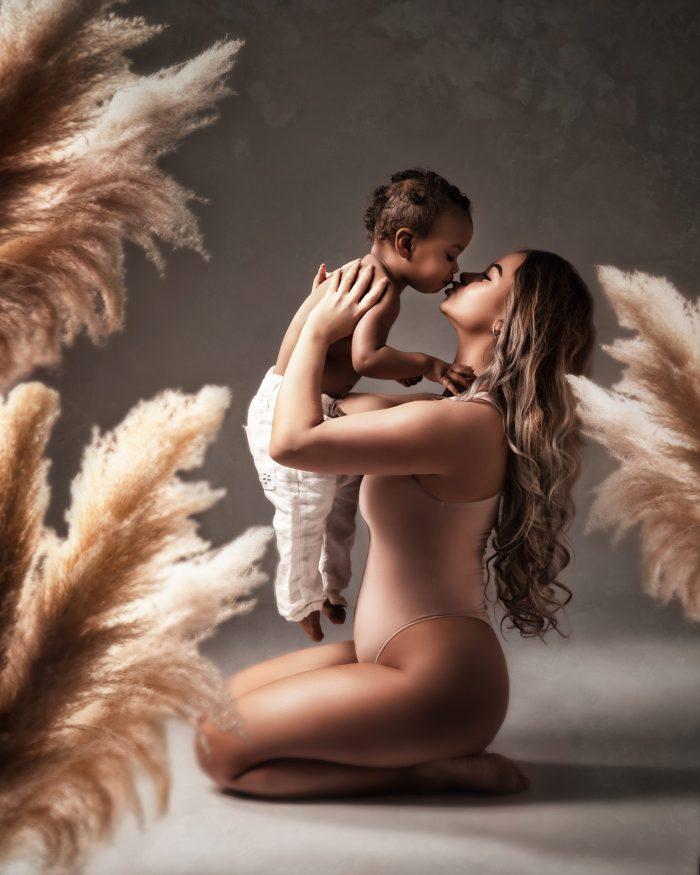 moeder en kind fotografie in studio