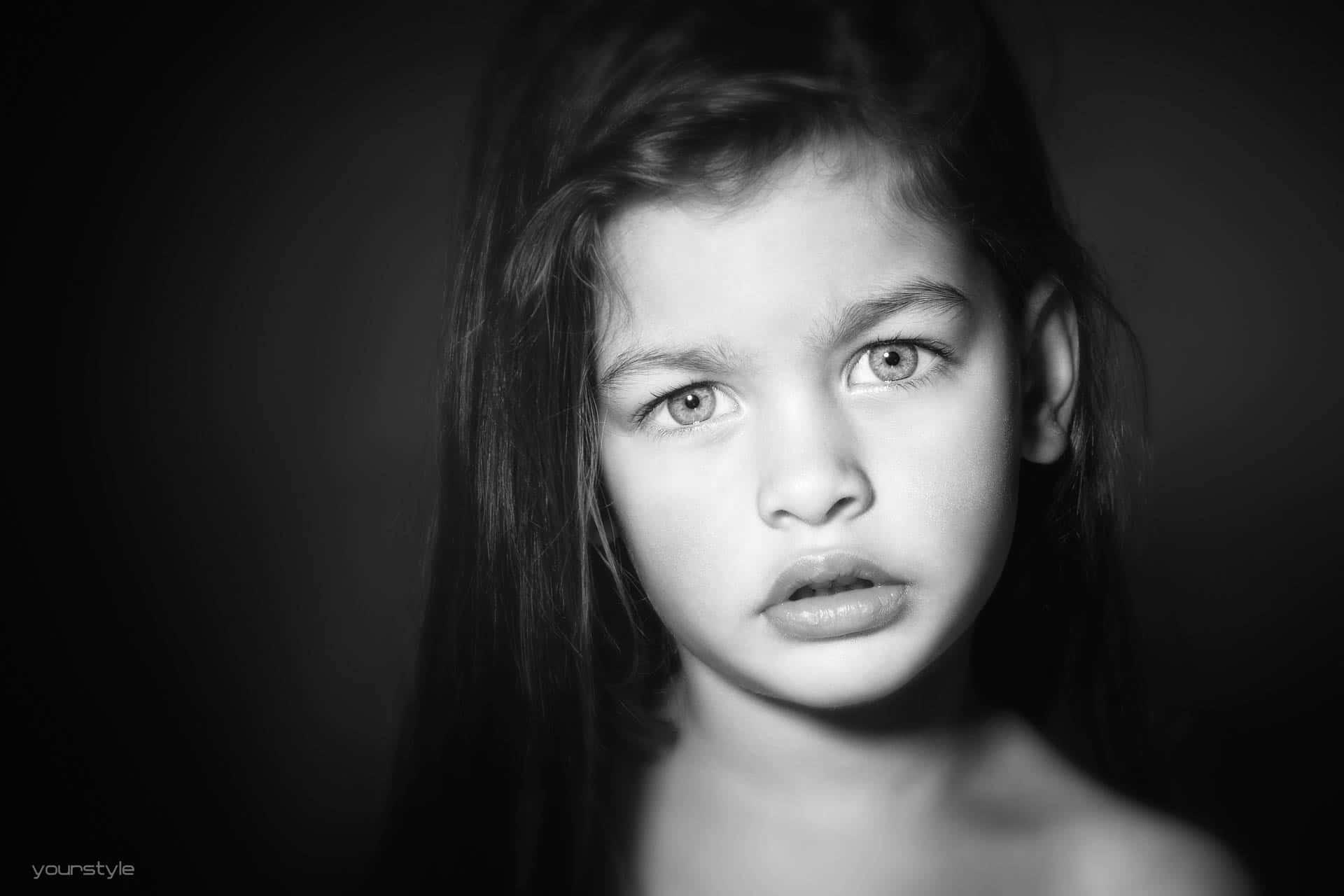 Kinderfotografie zwart-wit